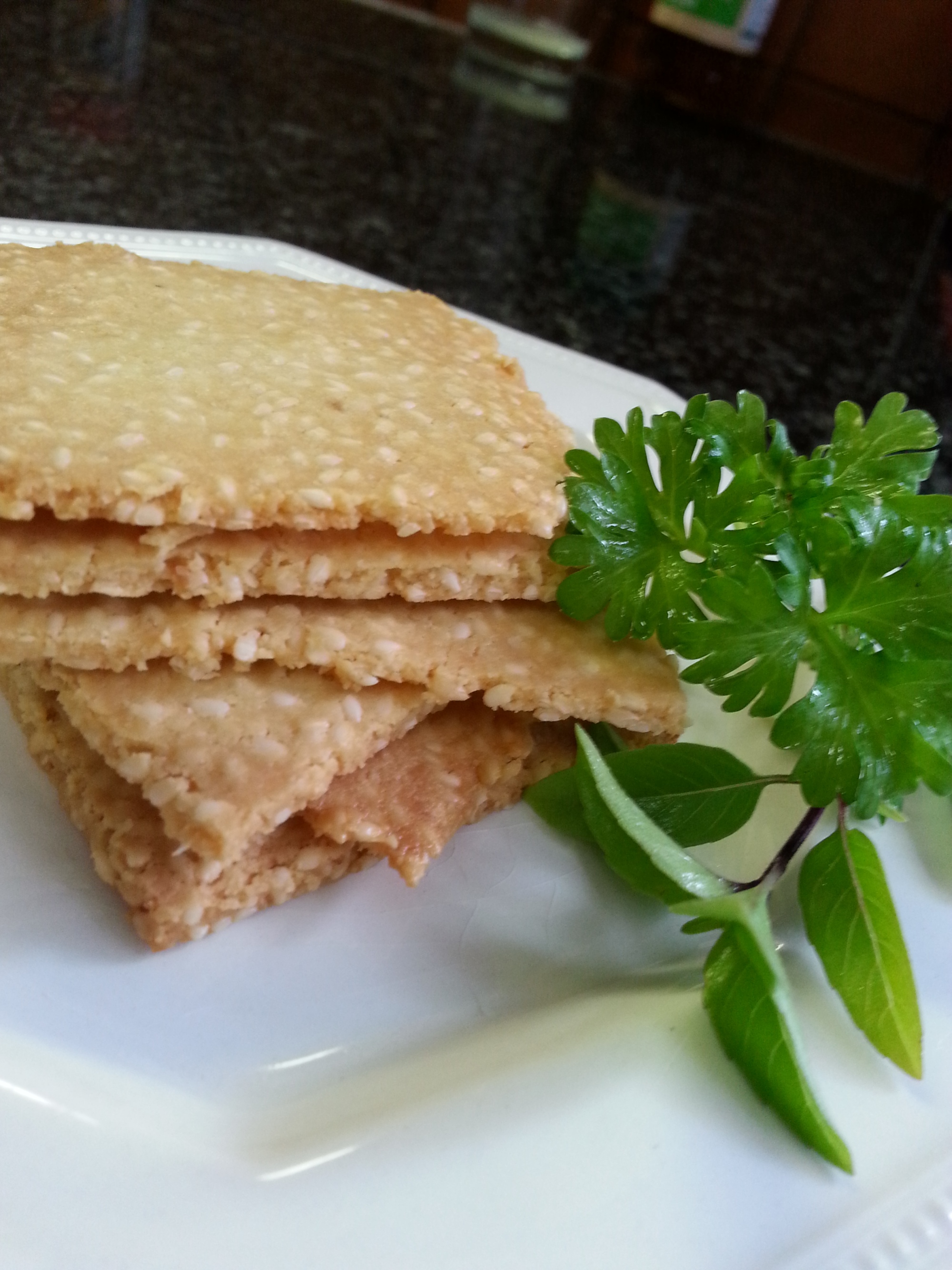 Sesame seed biscuits