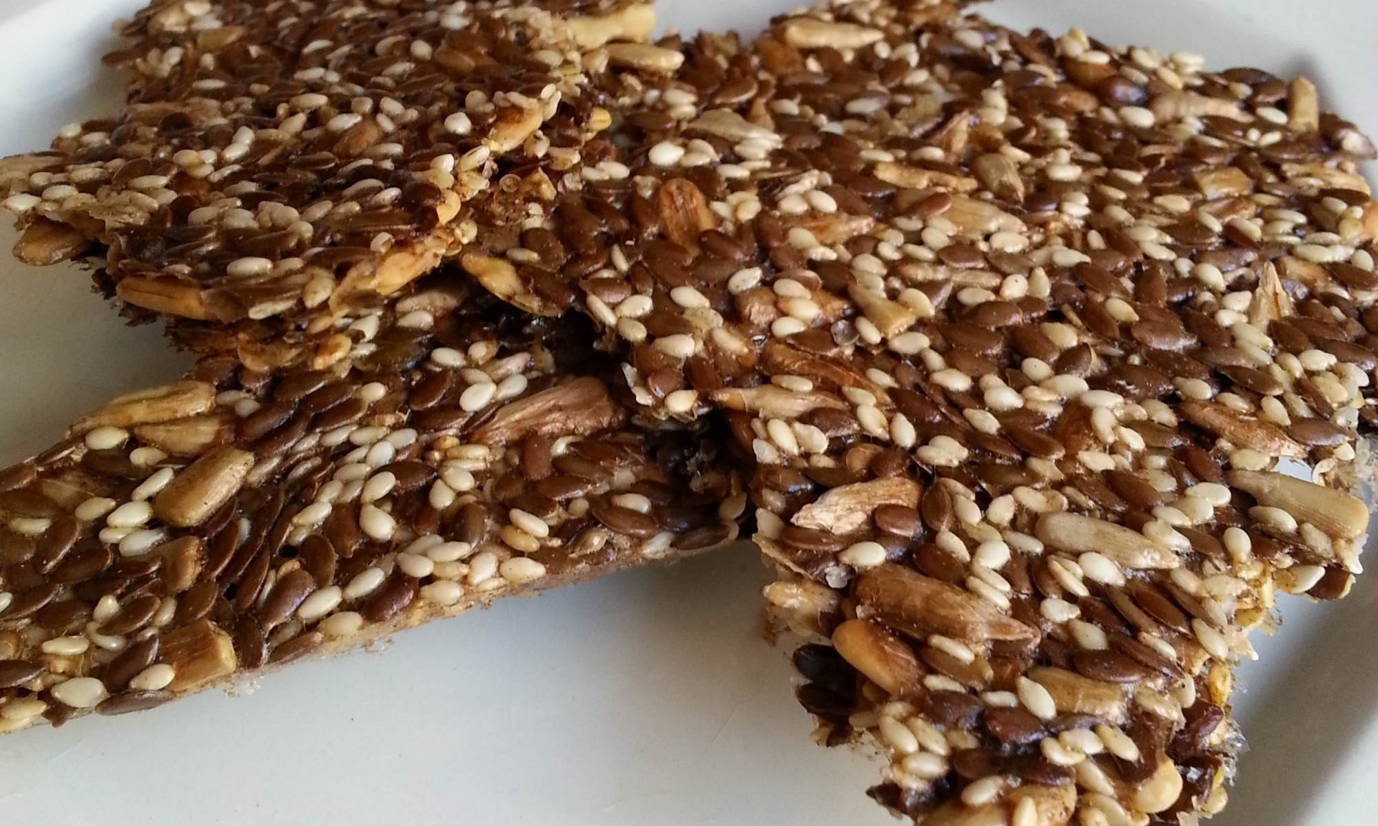 Low-carb, healthy-fat Banting seed crackers.